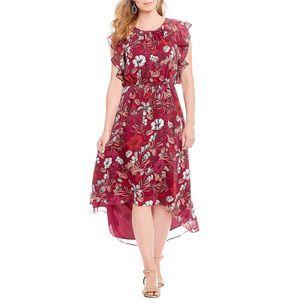 ALEX MARIE Michelin Berry Rose Fall Ruffle Dress